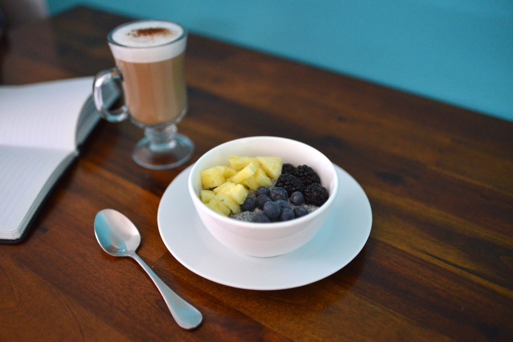 poesie cafe coffee and chia seed bowl